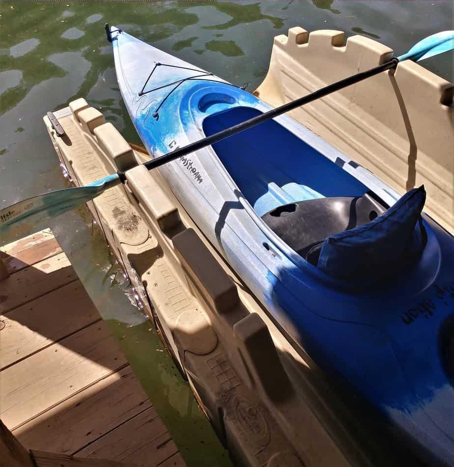 Kayak dock launch at Standing Stone Lake.