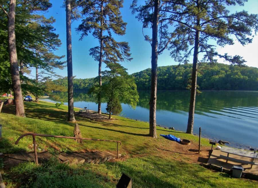 The campground at Melton Hill Dam, west of Knoxville had beautiful views for the two days we were able to stay there.