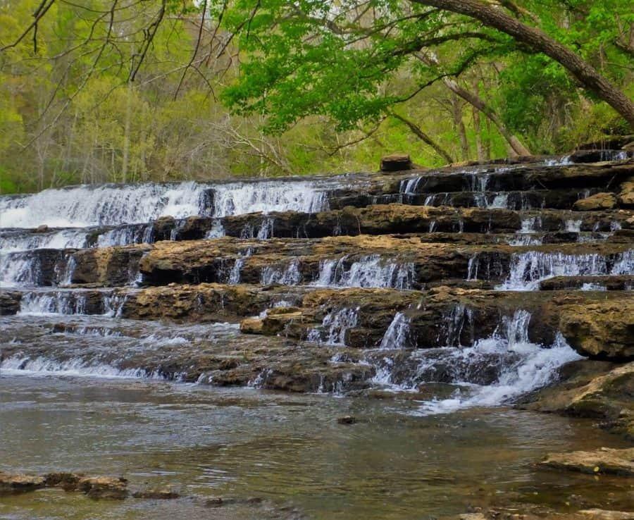 Cascade upstream of Burgess Falls More Tennessee Waterfalls