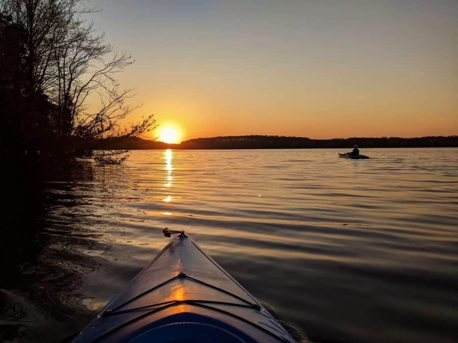 Kayaking on Tims Ford Lake