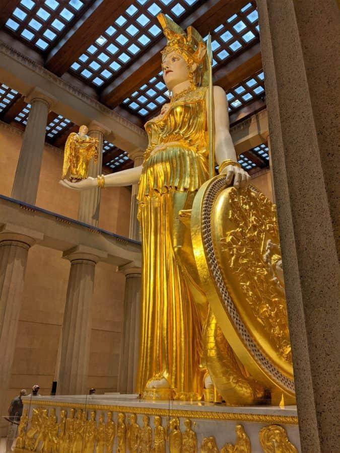 Statue of the Goddess Athena in the Parthenon