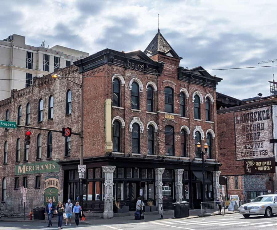 Corner of Broadway in Old Downtown Nashville