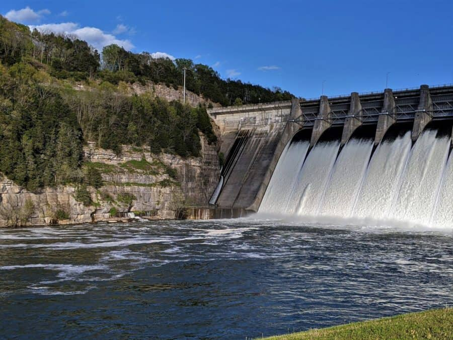 Tennessee Waterfalls open flood gates on the Center Hill Dam