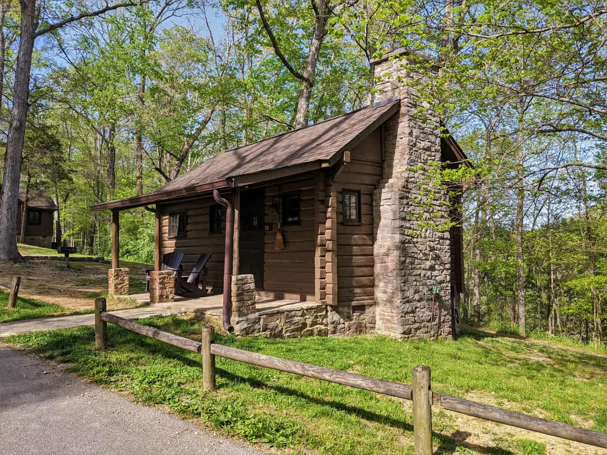 Guest cabin at Standing Stone State Park.