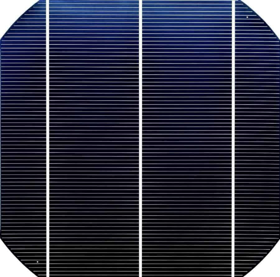 How solar electricity works. Single mono crystalline solar cell