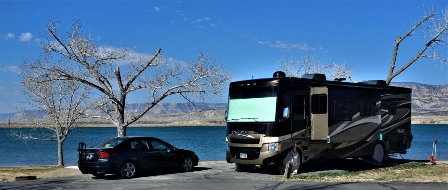 """Our Acura """"toad"""" and 2013 Tiffin Open Road"""