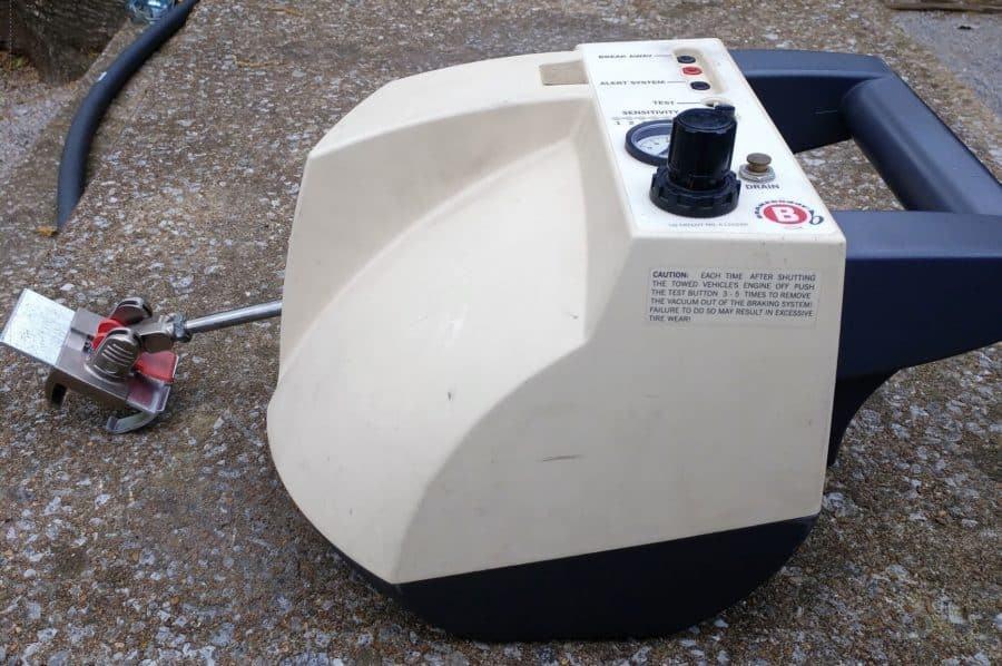Brake Buddy tow car brake system.
