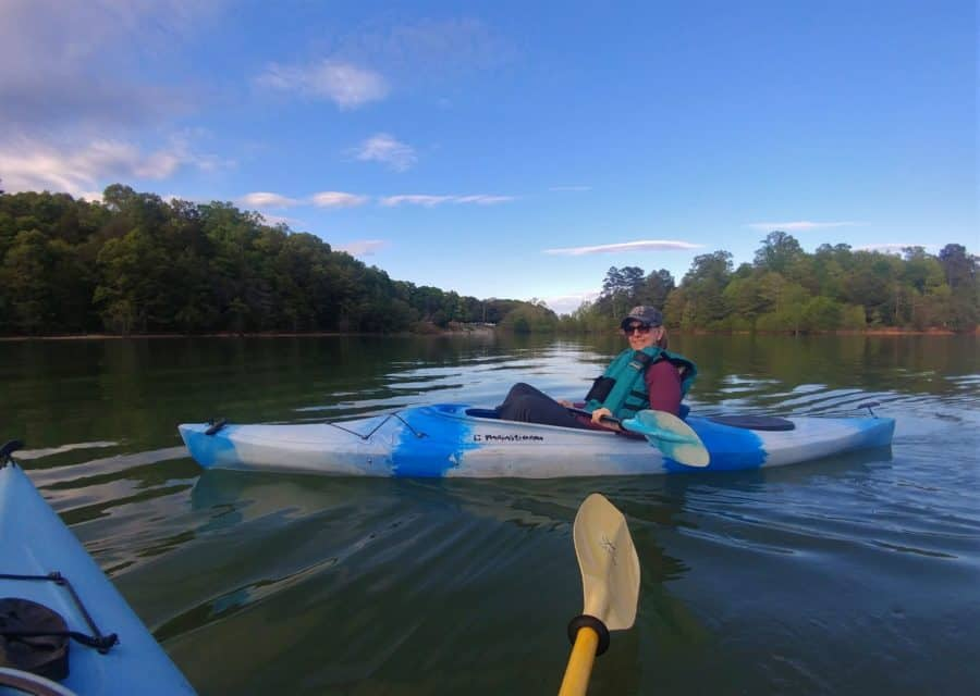 The great part of Loyston was our campsite and Norris Lake. We were right on the water and we had a good time with the kayaks.