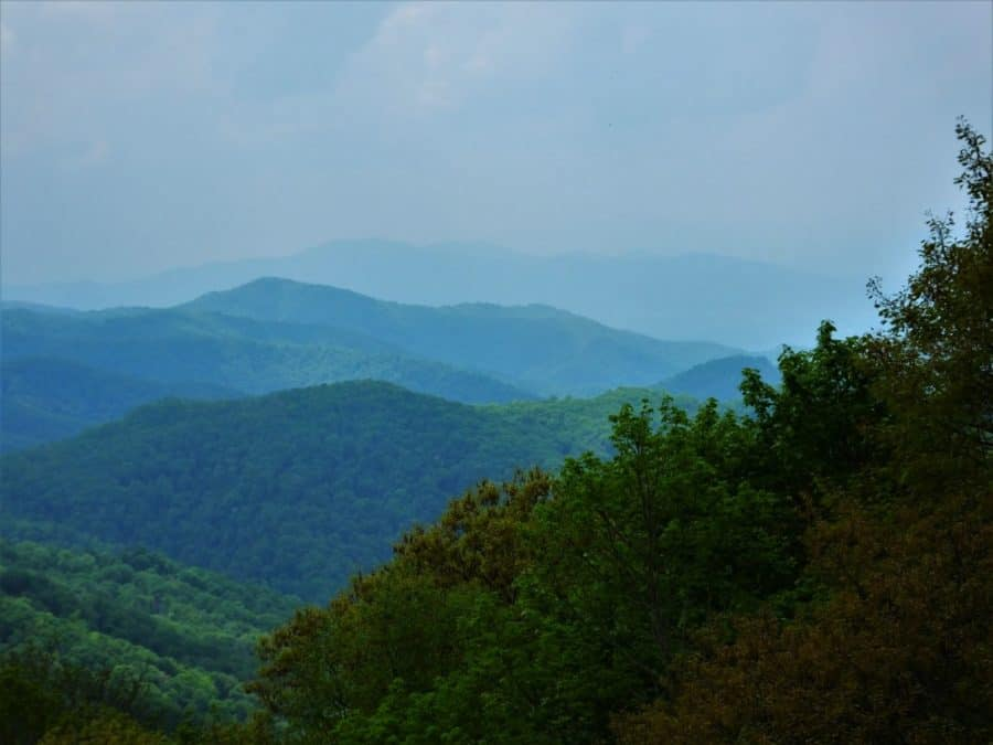 View at Great Smoky Mountain National Park