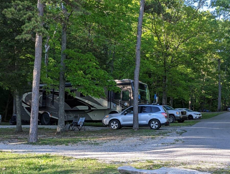 Our campsite at Loyston Point Campground