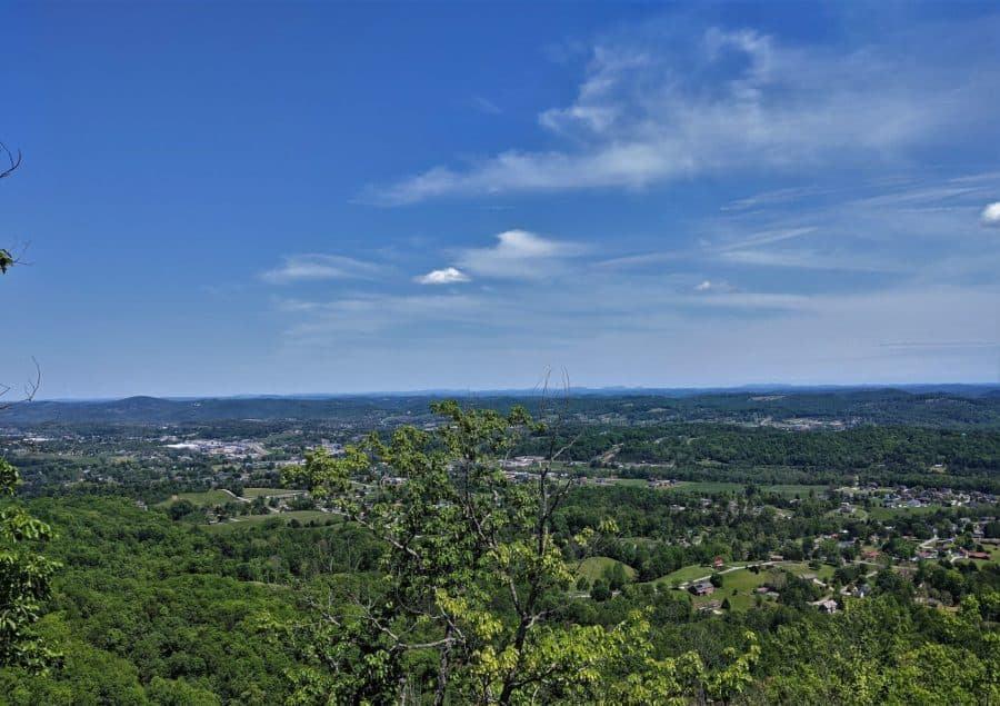 View of Jacksboro from Devil's Racetrack.