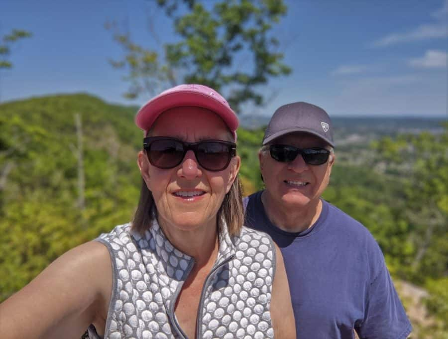 Scott & Tami at the top of Devil's Racetrack near Cove Lake State Park north of Knoxville.