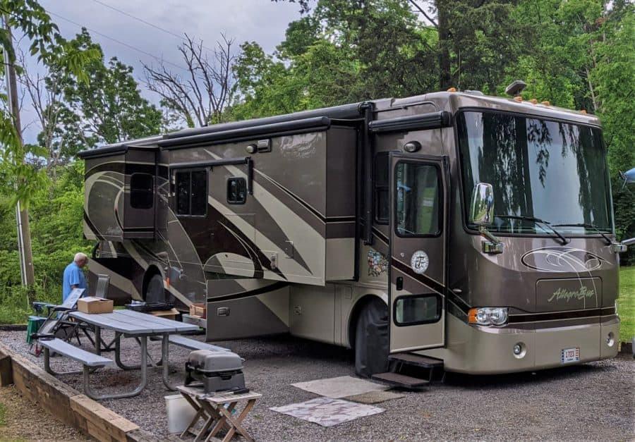 Our campsite at Douglas Dam