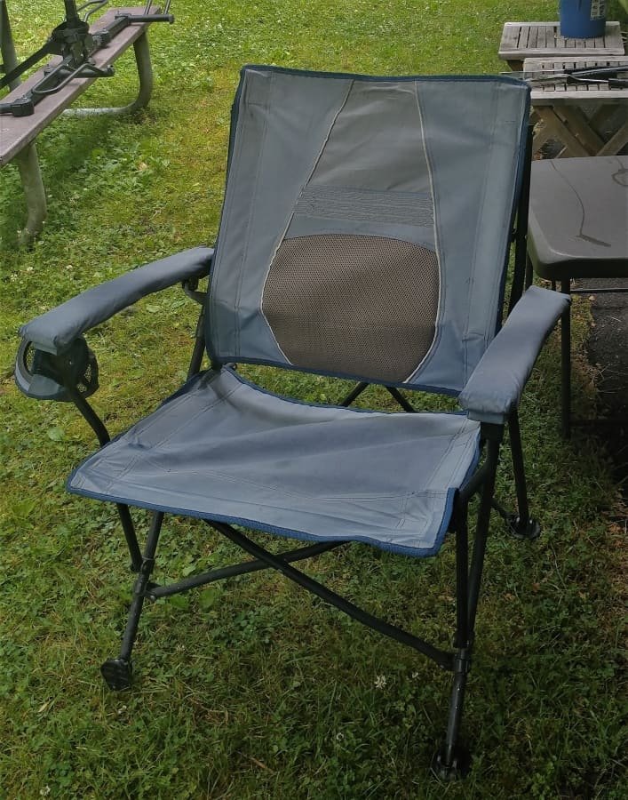 After only a year and a half our very comfortable chair is nearly dead from sun damage.