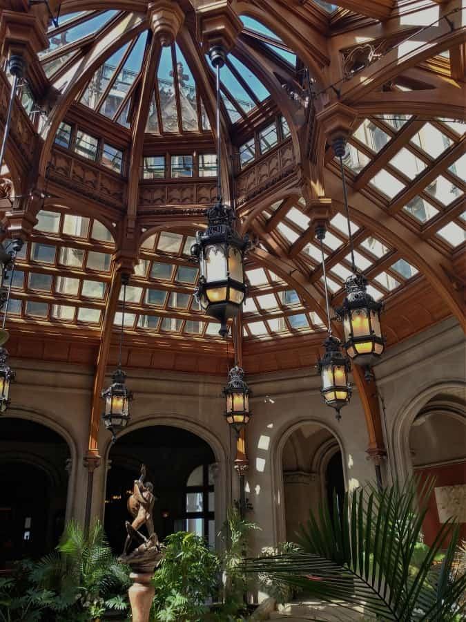 The Atrium inside the Amazing Biltmore Palace.