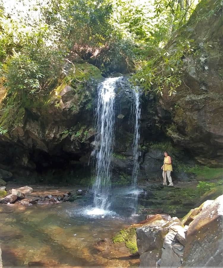 Grotto Falls. A treasure in the Smoky Mountains.