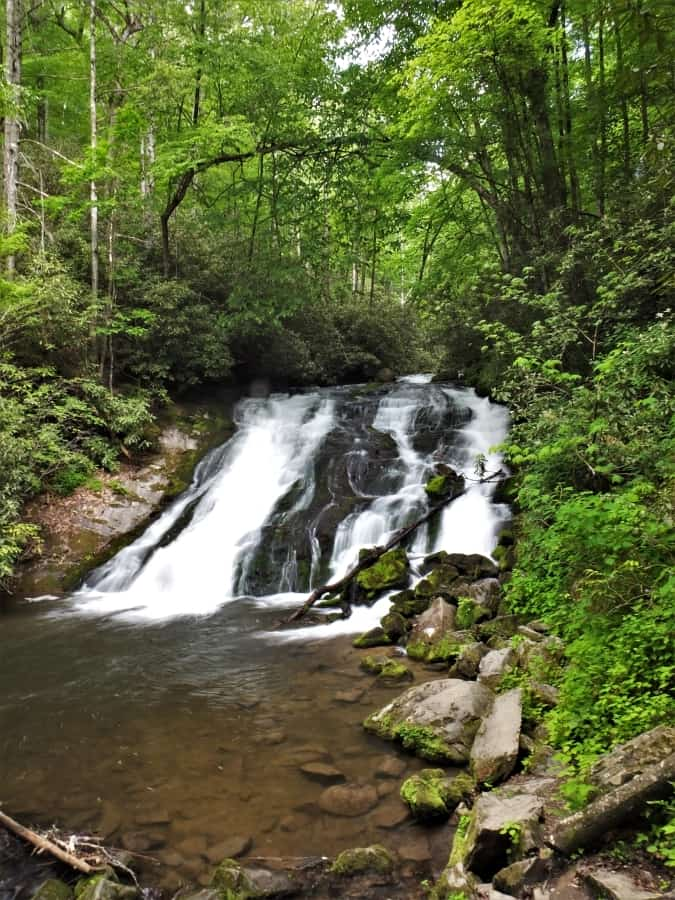 Indian Creek Falls.  A treasure in the Smoky Mountains.