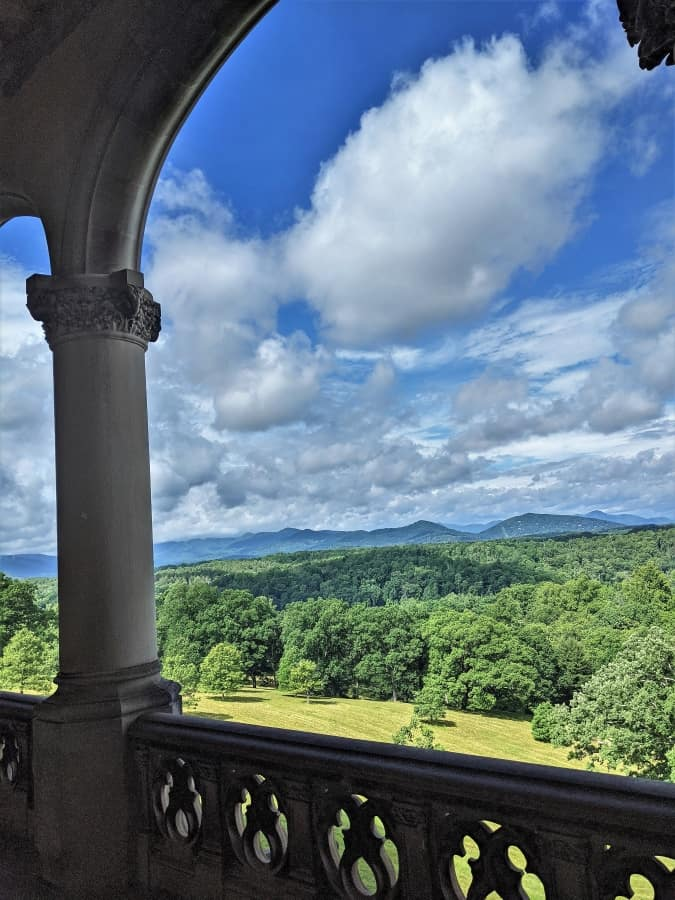 This is the view to the west from porch at the back of the palace.
