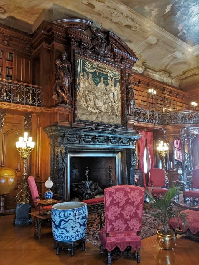 Inside the library at the Amazing Biltmore Palace.