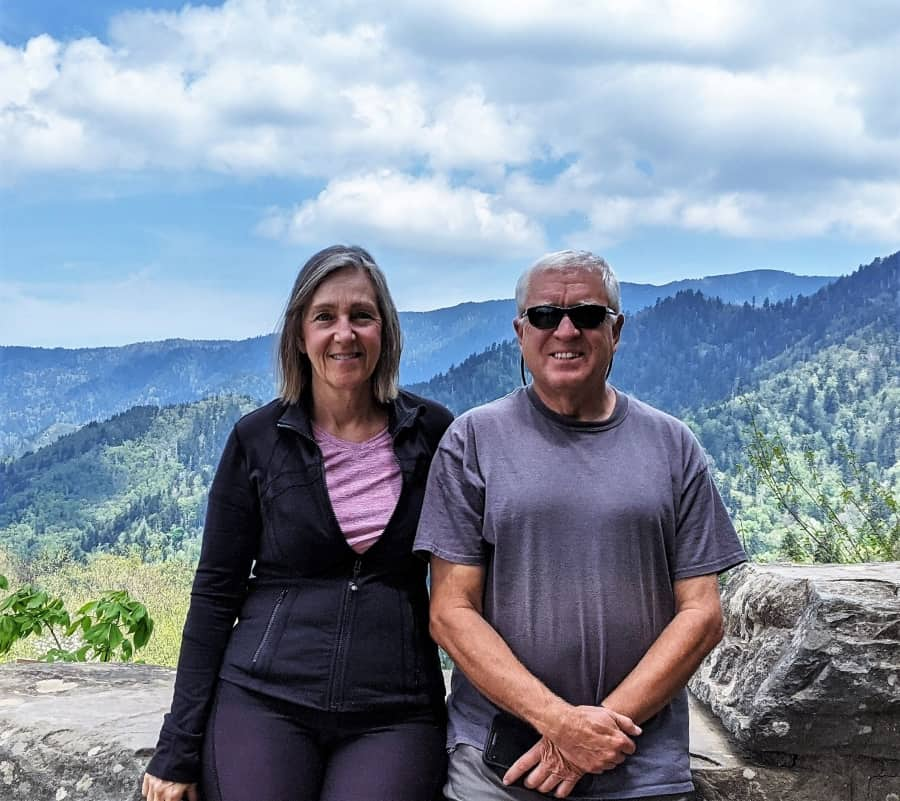 Scott and Tami in Great Smoky Mountain National Park,