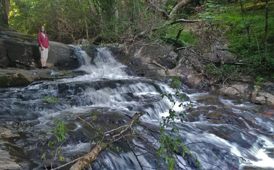 Bushwacker Falls at Fort Hamby Park