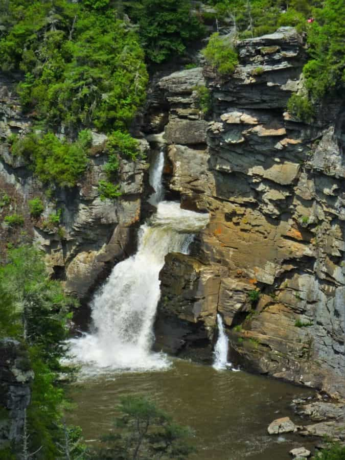 Linville Falls on the Blue Ridge Parkway