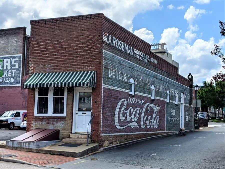 W.A.Roseman Groceries and Grain Salisbury, North Carolina in the Dog days of summer.