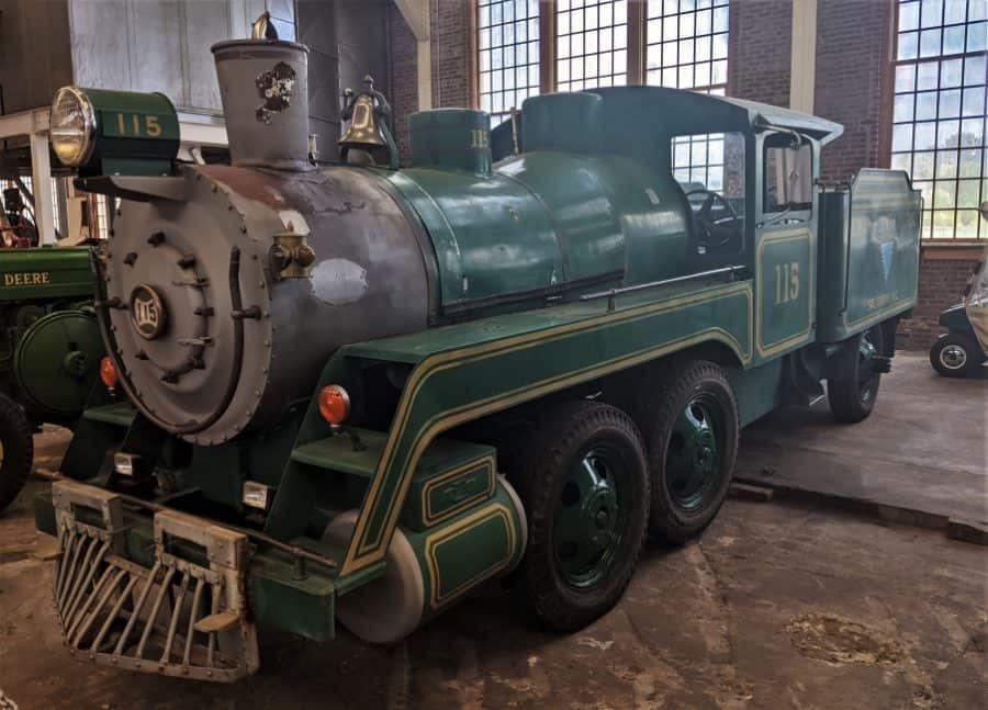 "Steam engine ""truck"" at North Carolina Transportation Museum."