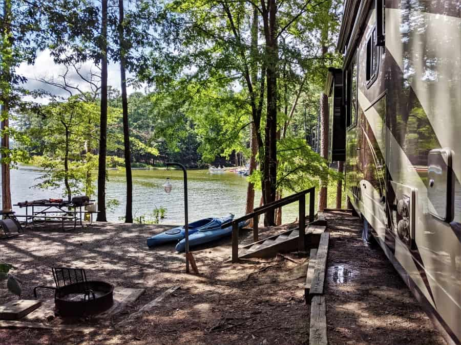 Our campsite at Jordan Lake