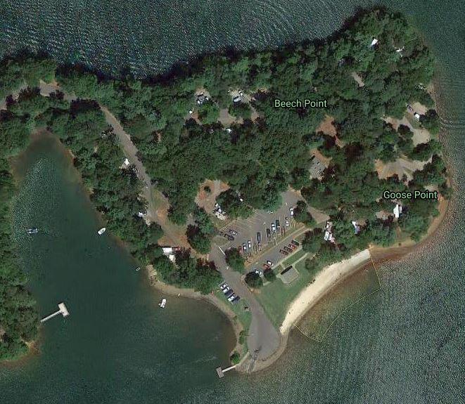 Goose Point Campground Satellite View