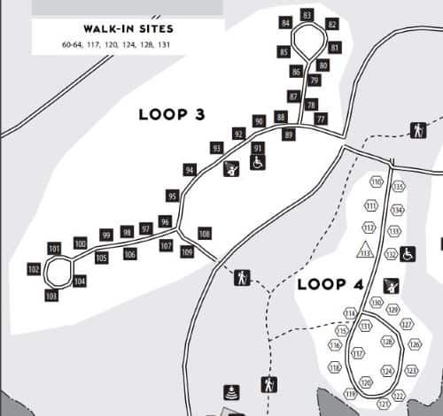 Holly Point Campground Loop 3 and 4