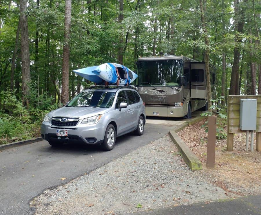 Our RV in site 18