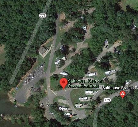 Salthouse Branch Campground Satellite View