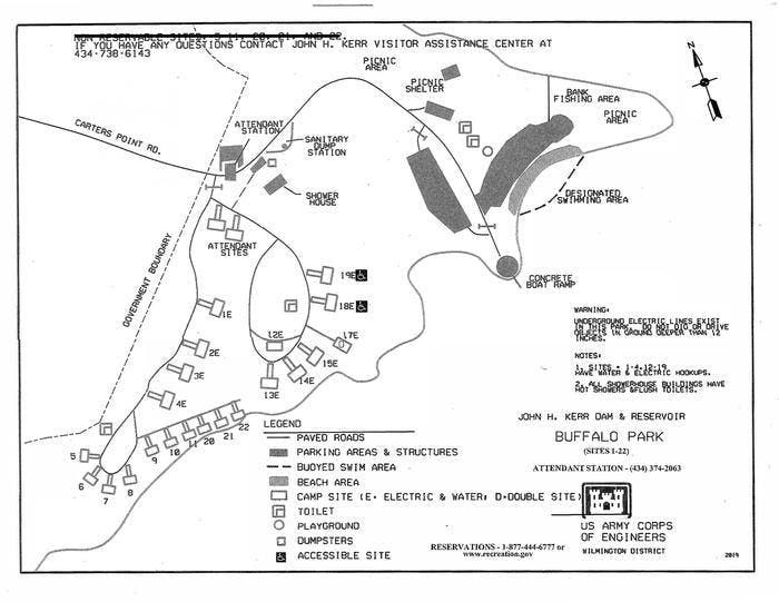 Buffalo Park Campground Layout