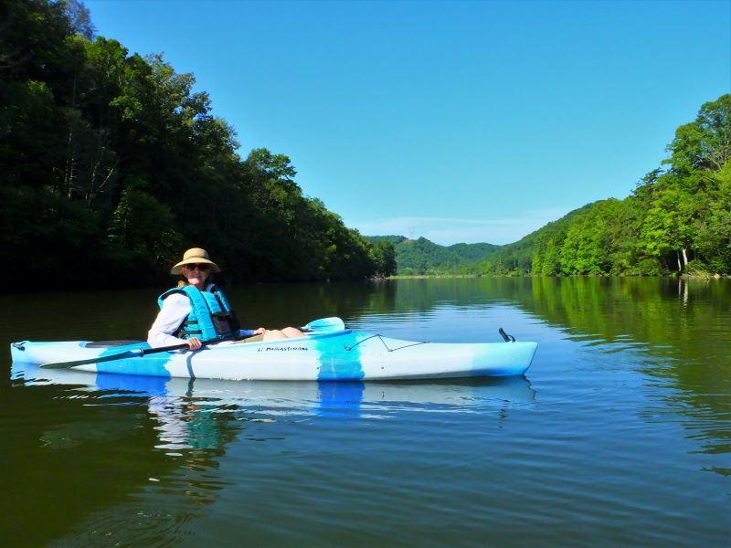 Kayaking on Hungry Mother Lake