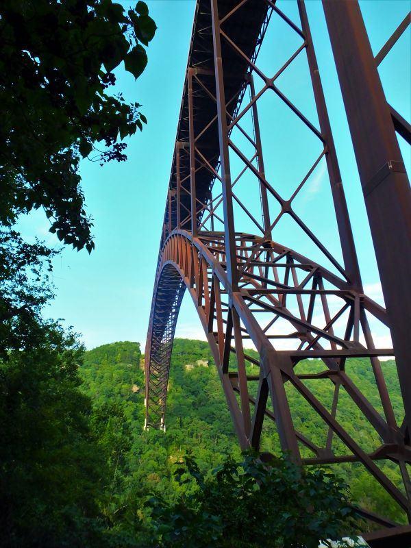 Bridge from below New River Gorge
