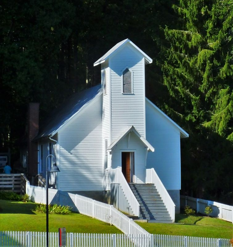 Coal camp church at the Beckley Mine Museum