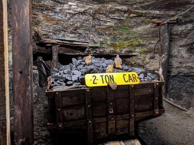 Two-ton coal car.