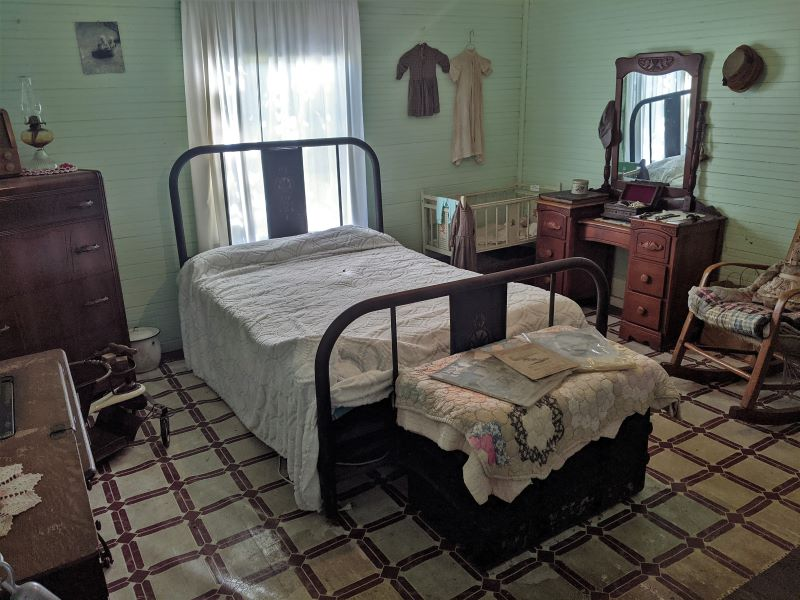 Large bedroom at the miner's house.