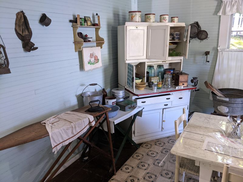 Kitchen at the miner's house.