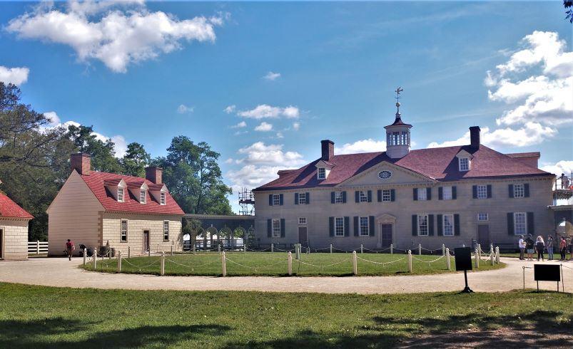 George Washington's mansion at Mount Vernon.