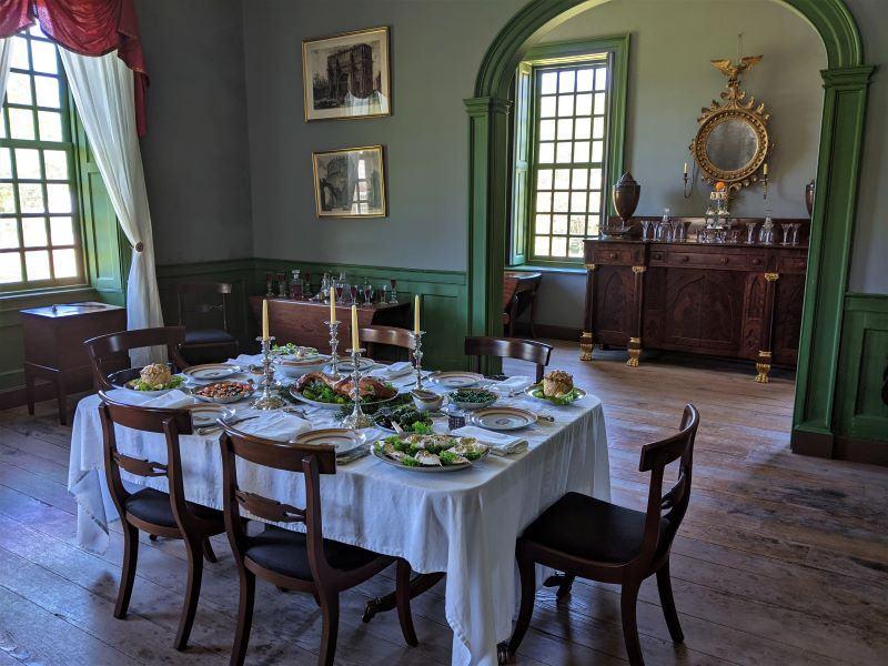 Stratford Hall Plantation main Dining Room